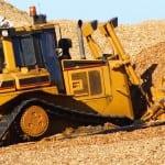 Bulldozer at sawmill